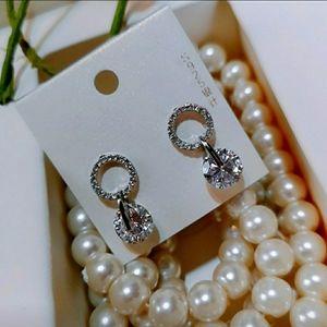 Crystal Zercon Sterling Silver Earrings.
